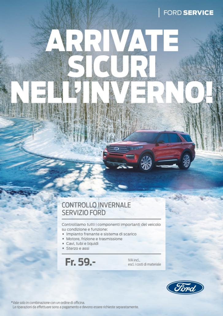 Ford controllo invernale